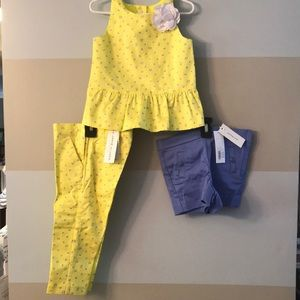 3 piece 3T Janie and Jack yellow and purple outfit